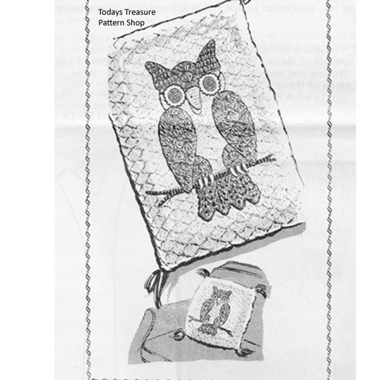 Vintage Owl Crochet Pillow Pattern