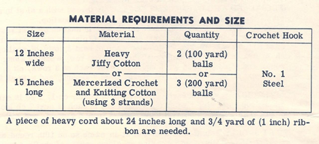 Crochet parasol Thread Requirements