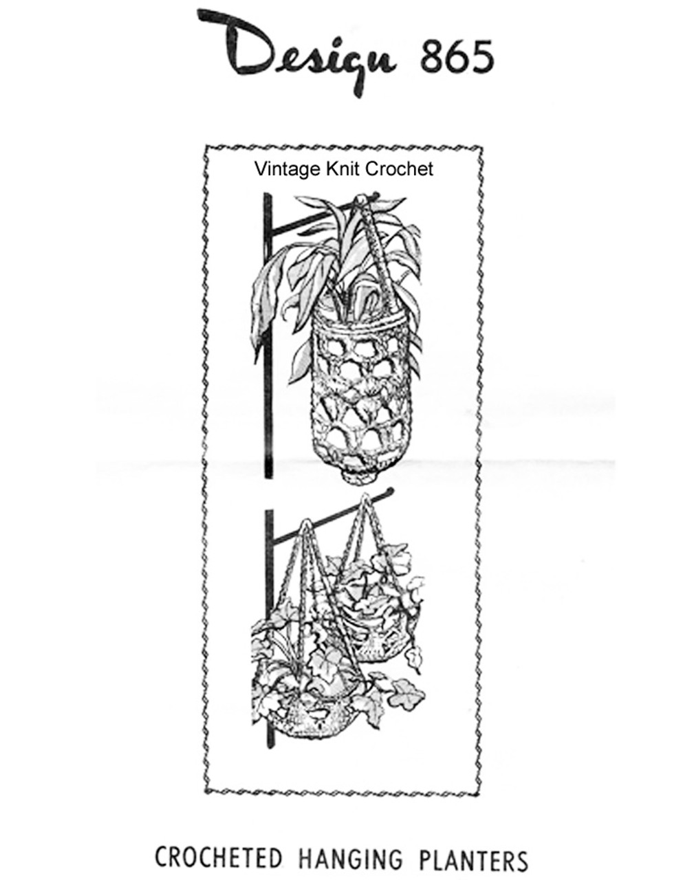 Hanging Basket Crochet Pattern, Mail Order 865