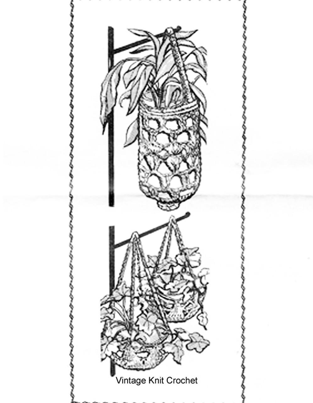Mail Order Crocheted Baskets Pattern Design 865
