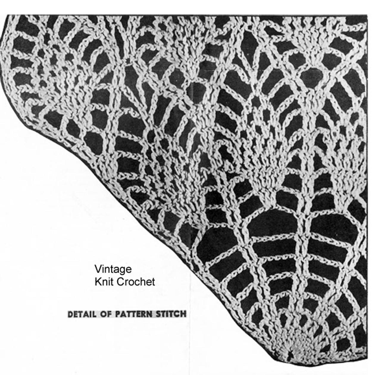 Pineapple Swan Crochet Pattern Illustration, Design 7132