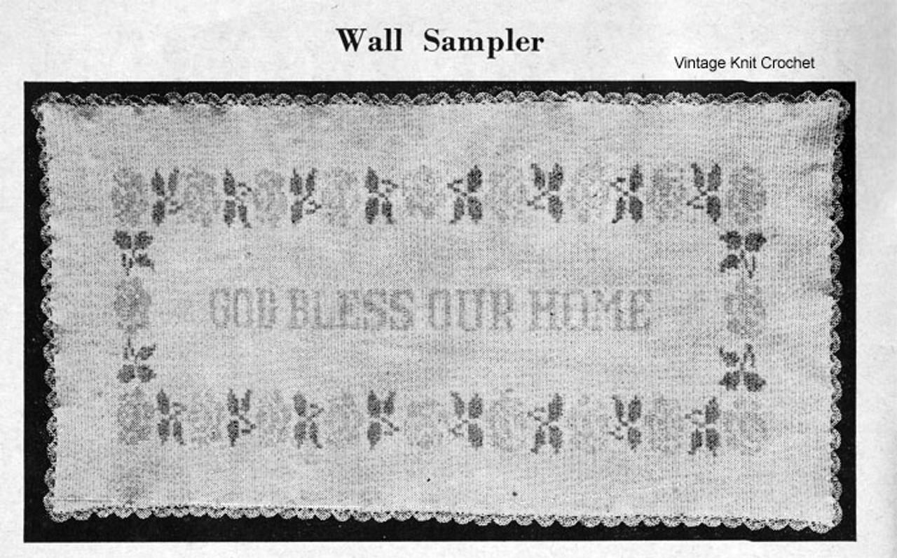 God Bless Our Home, Free Filet Crochet Pattern