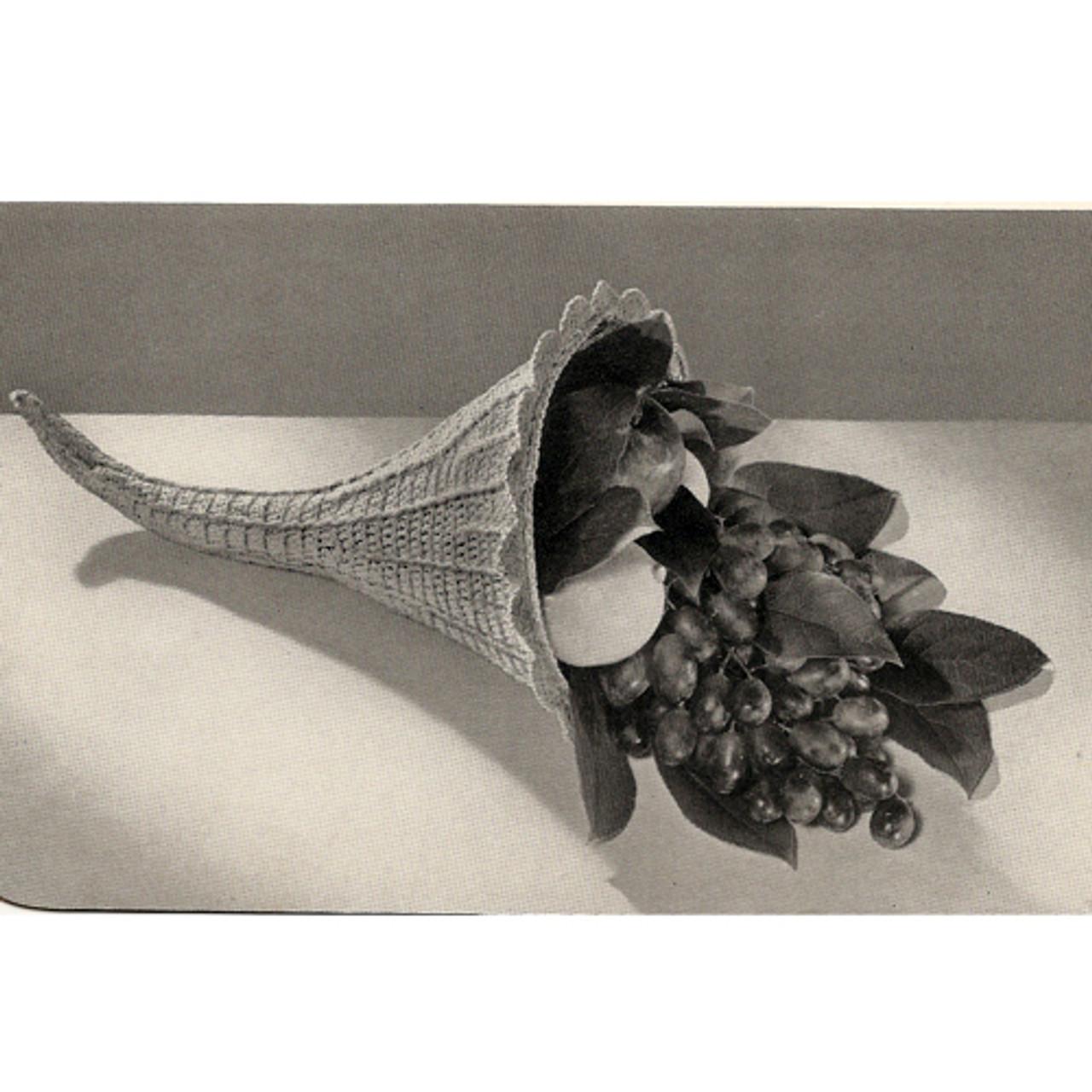 Vintage Crochet Cornucopia pattern