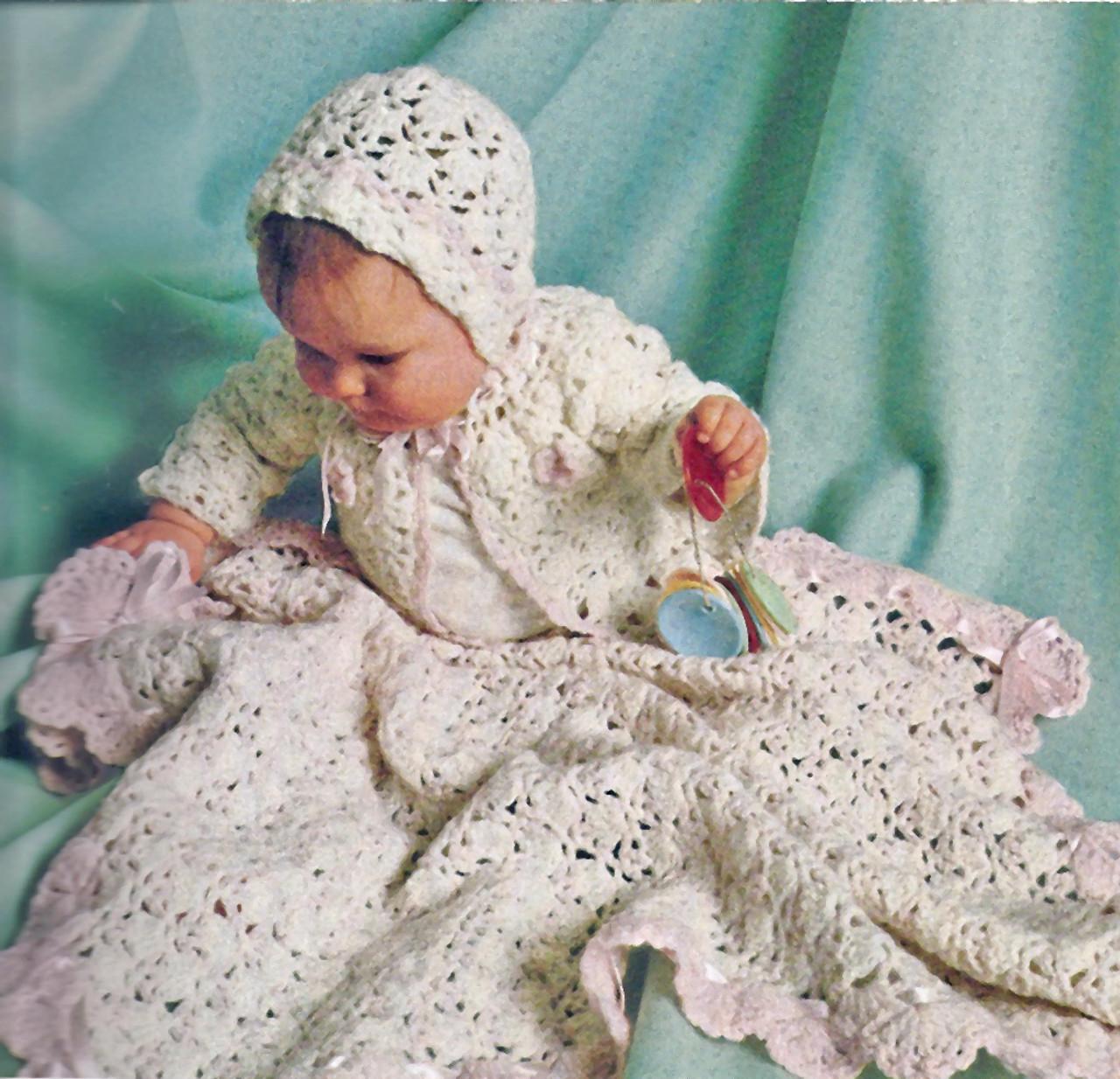 Columbia Minerva Layette Crochet Pattern