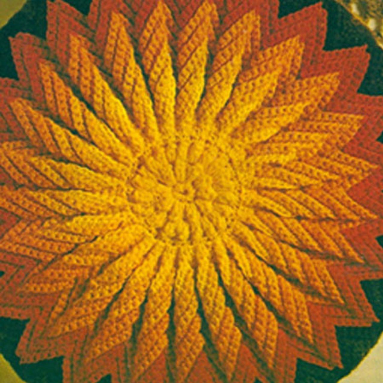 Crochet Sunburst Pillow Pattern