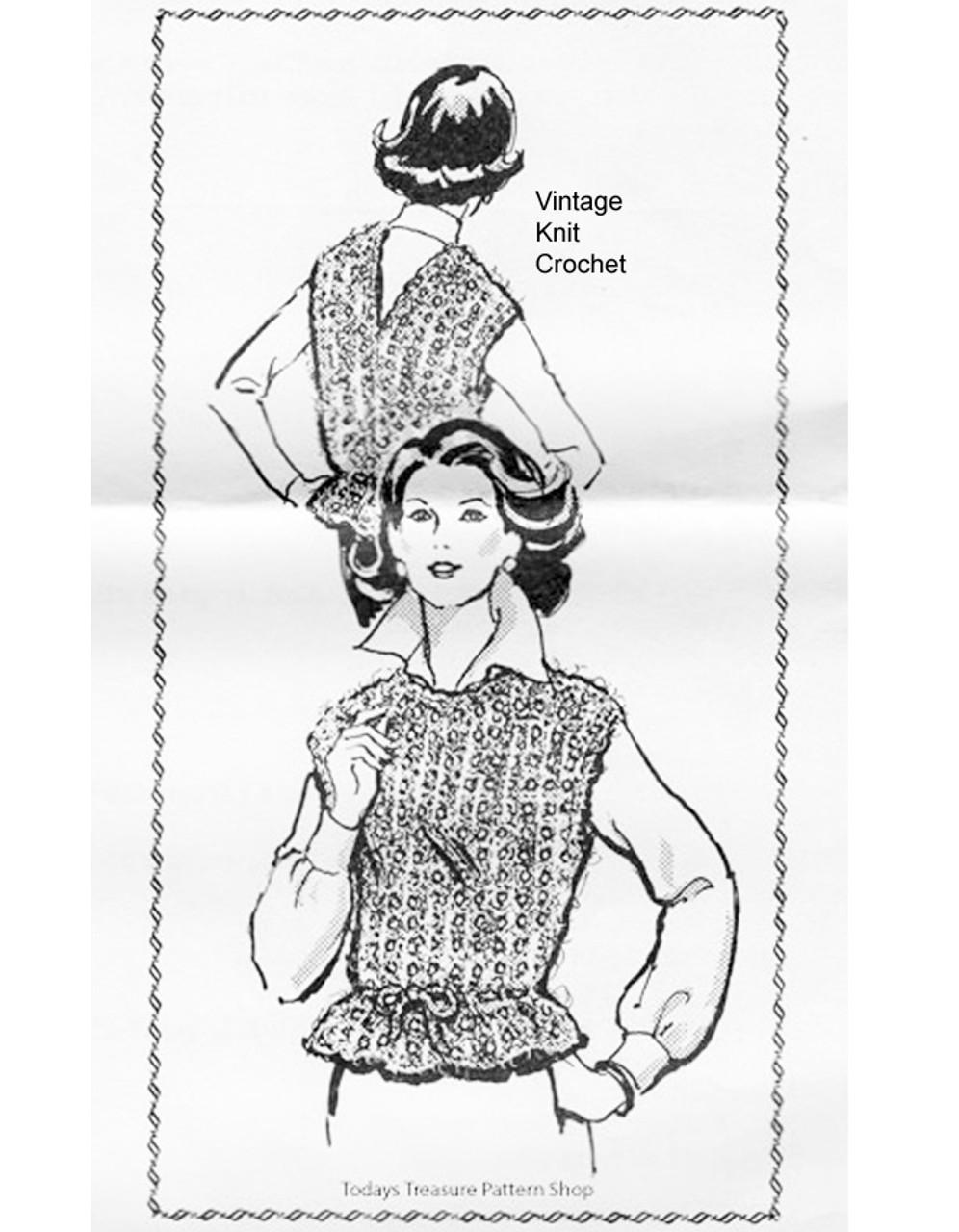 Peplum Top Knitting Pattern, Laura Wheeler 826
