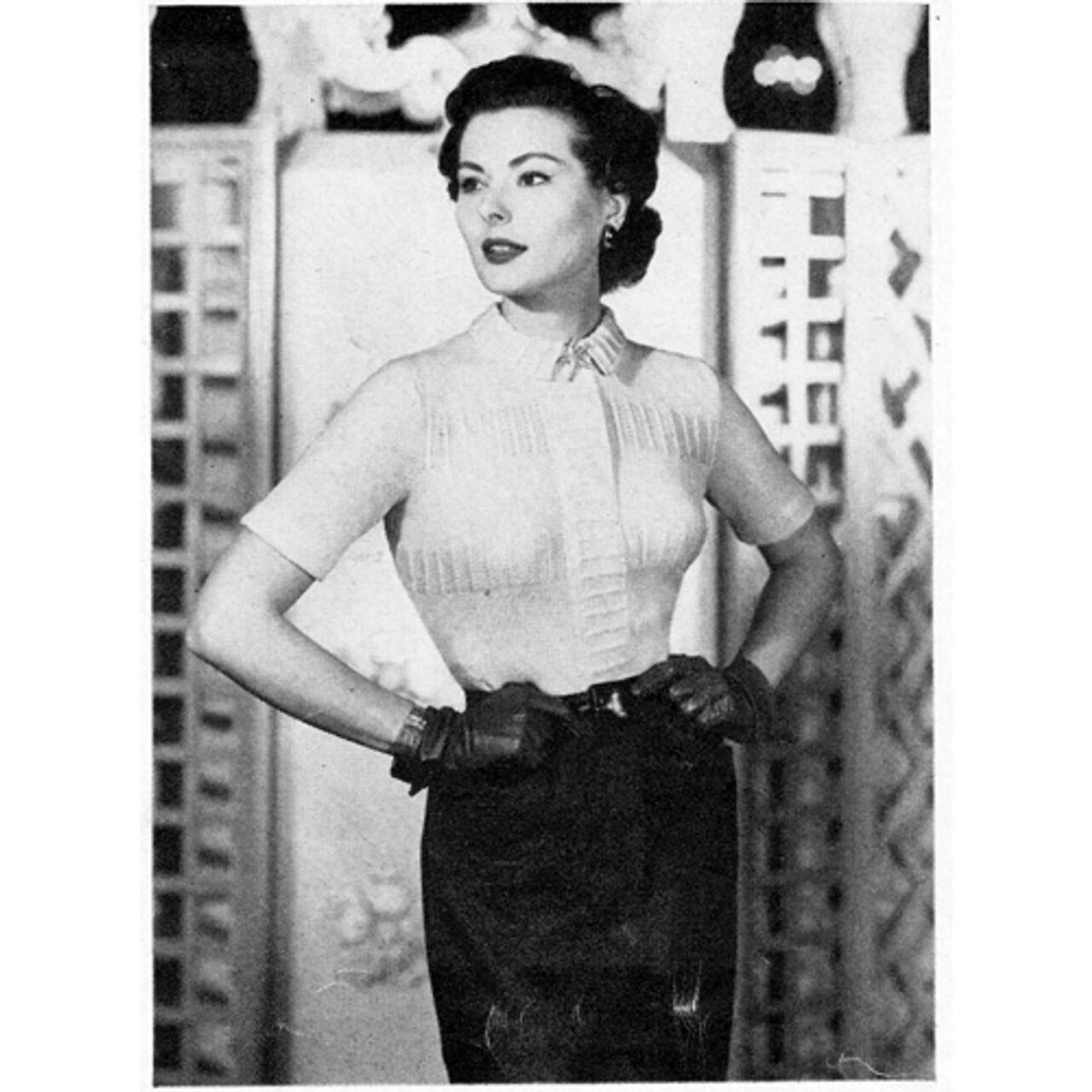 Vintage Womans Blouse Knitting Pattern