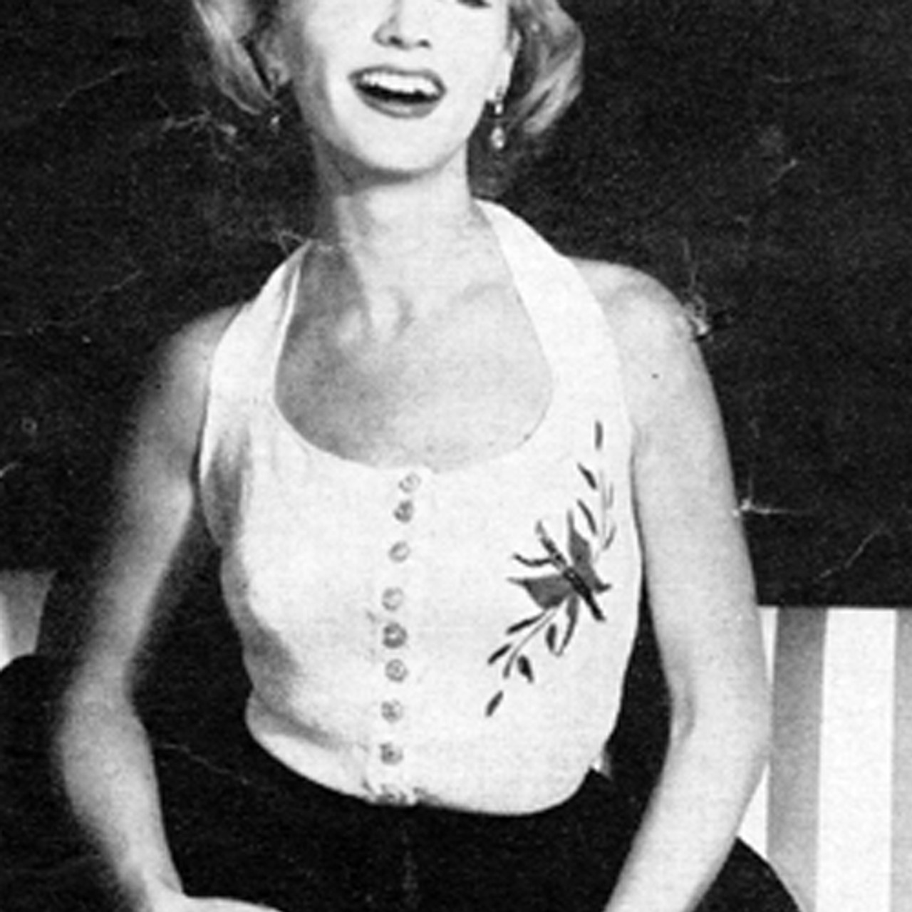 Knitting Pattern for Misses Halter Top, Hand Painted