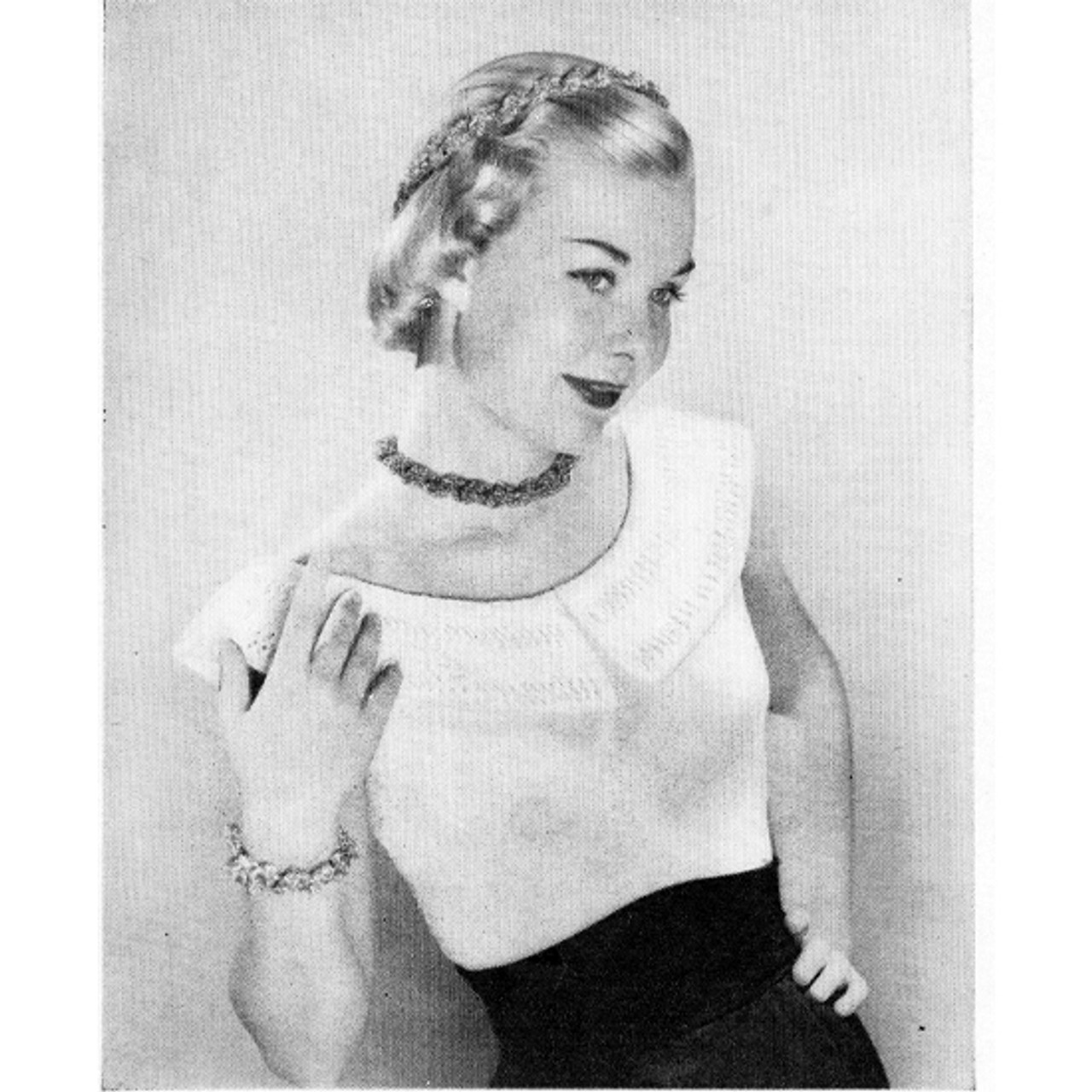 Vintage Knitted Peasant Blouse pattern