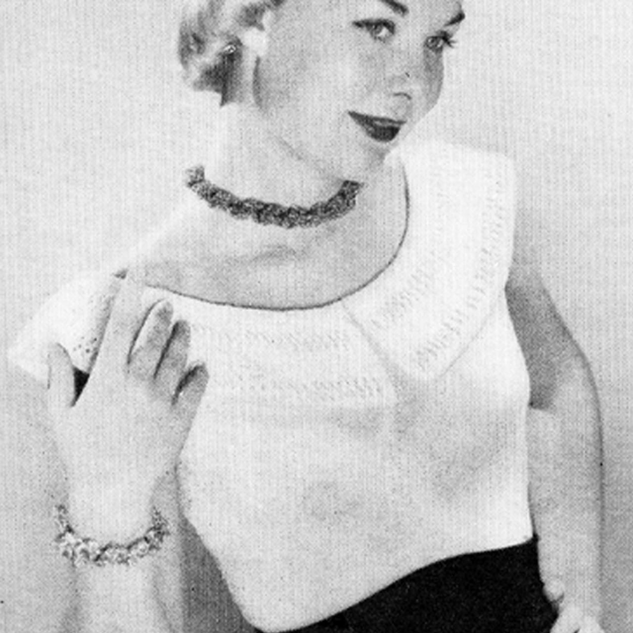 Knitting pattern collared peasant blouse