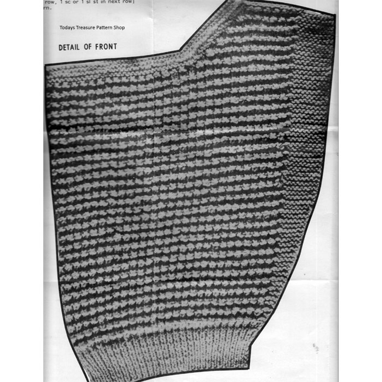 Knitted Sleeveless Blouse Mail Order Pattern