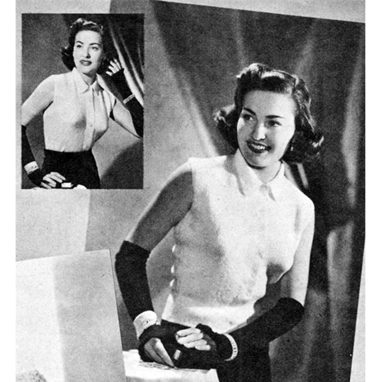 Vintage Knitting Pattern for Sleeveless Blouse