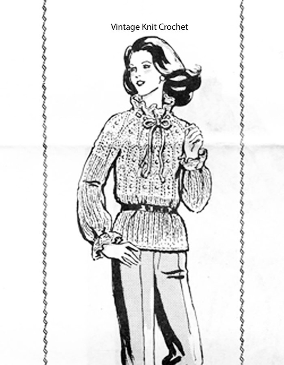 Knitted Lace Pullover Pattern Design 983