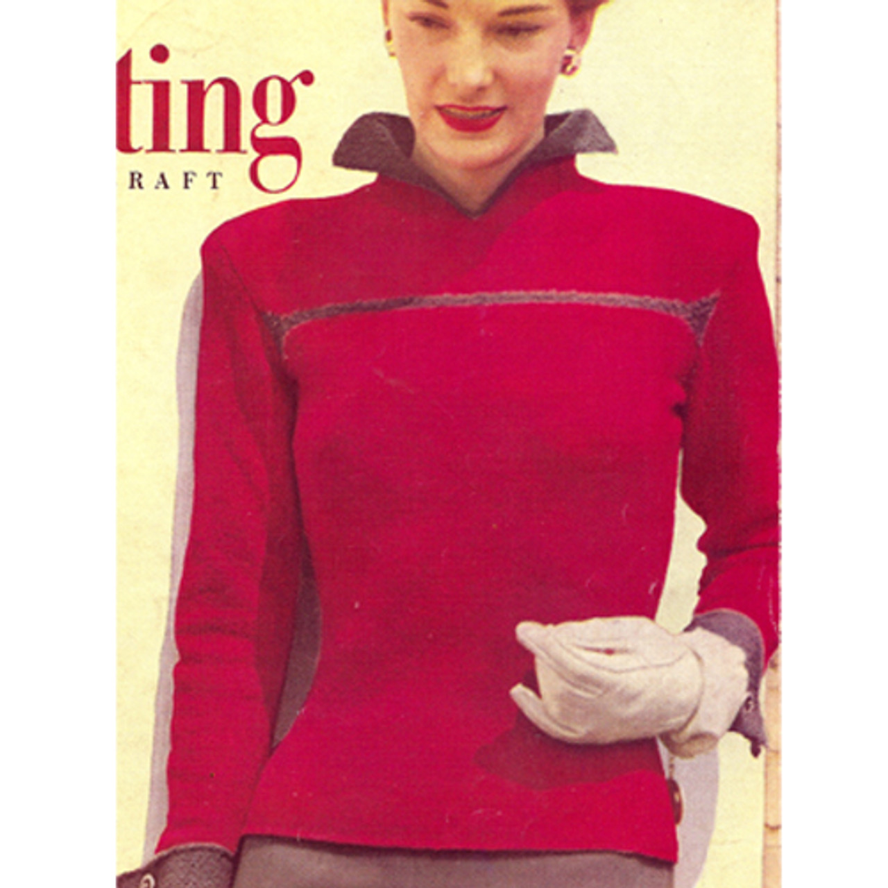Knitted Stand-up collar blouse pattern