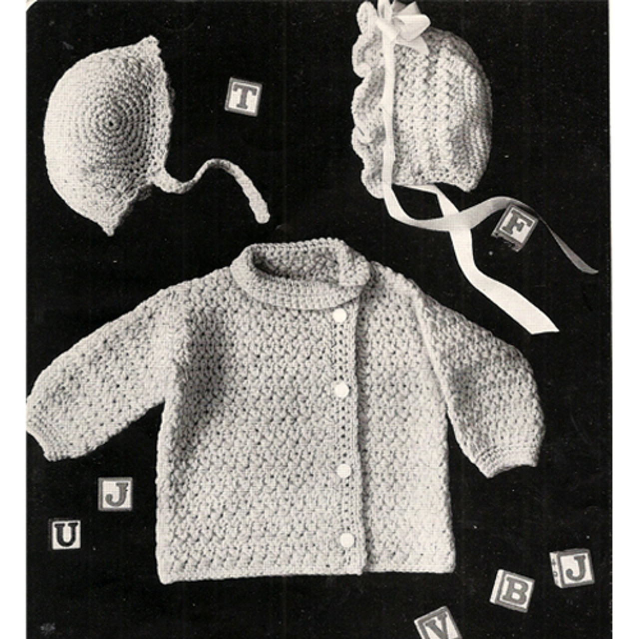 Side Button Baby Jacket Crochet Pattern