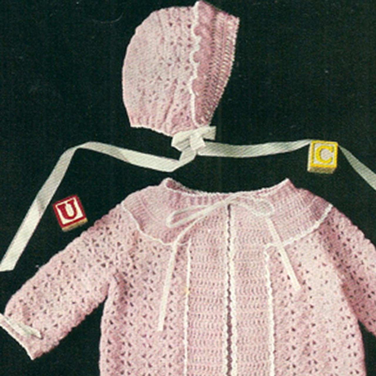 Pink Baby Jacket Crochet Pattern