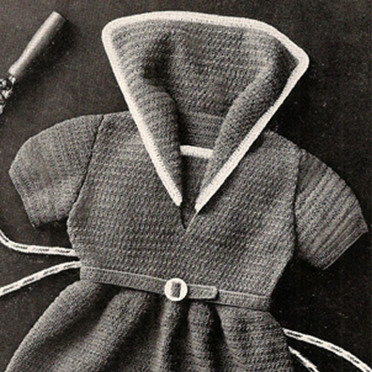 Big Collar Crochet Toddler Dress Pattern