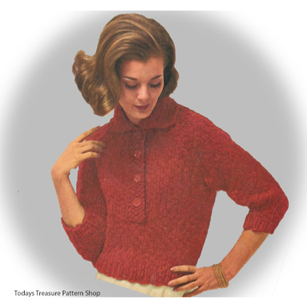 Knitted Pullover Blouse Pattern