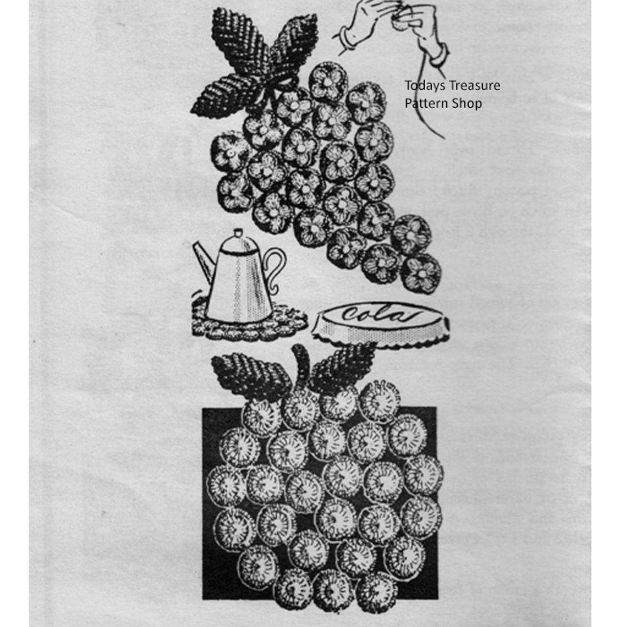 Vintage Crochet Bottle Cap Mats Pattern