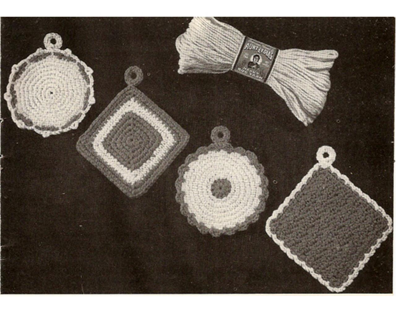 Vintage Crochet Potholders Pattern