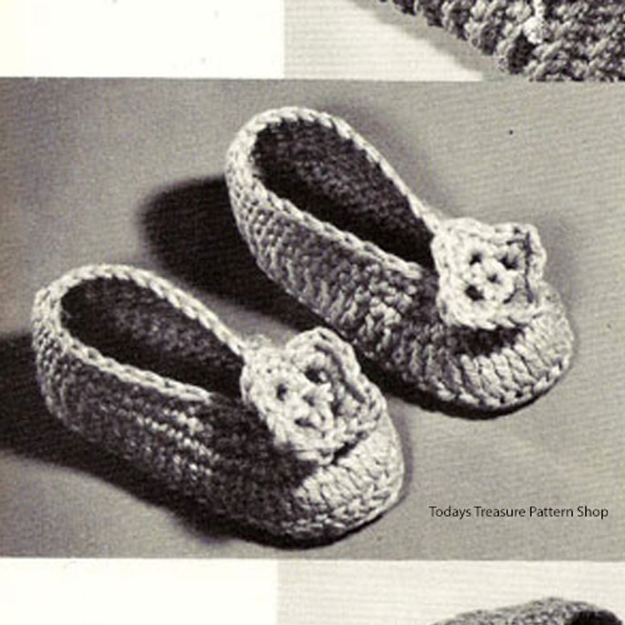 Childs Crocheted Slippers Pattern