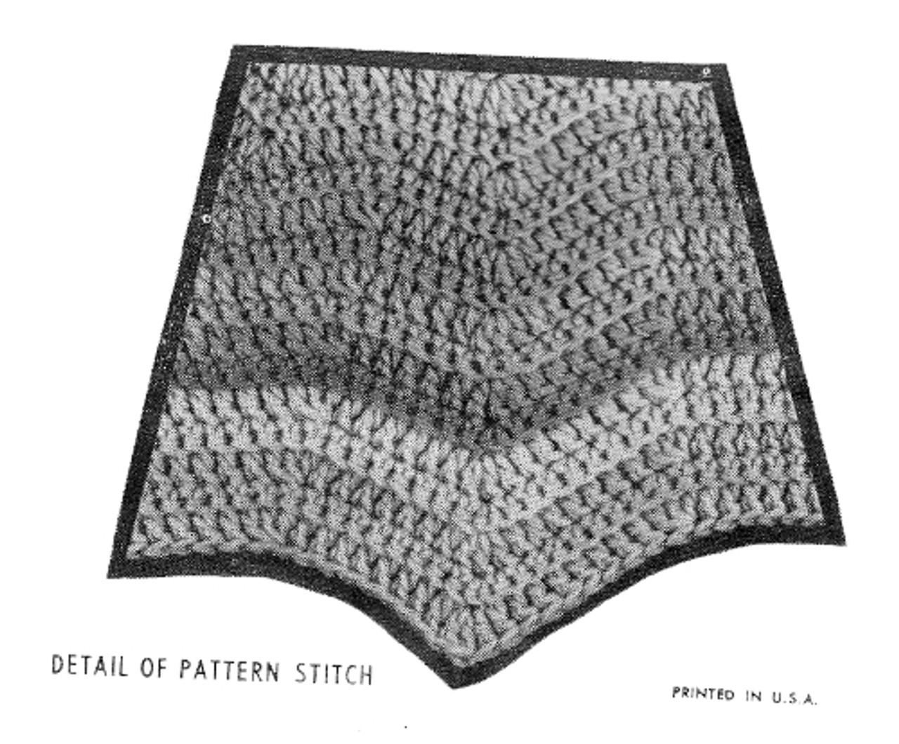 Chevron Poncho Crochet Stitch Illustration
