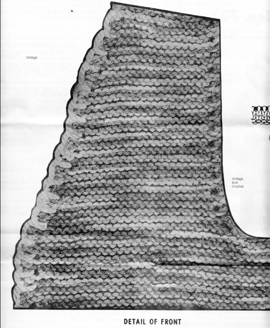 Varigated Jacket Knitting Pattern Detail, Mail Order 727