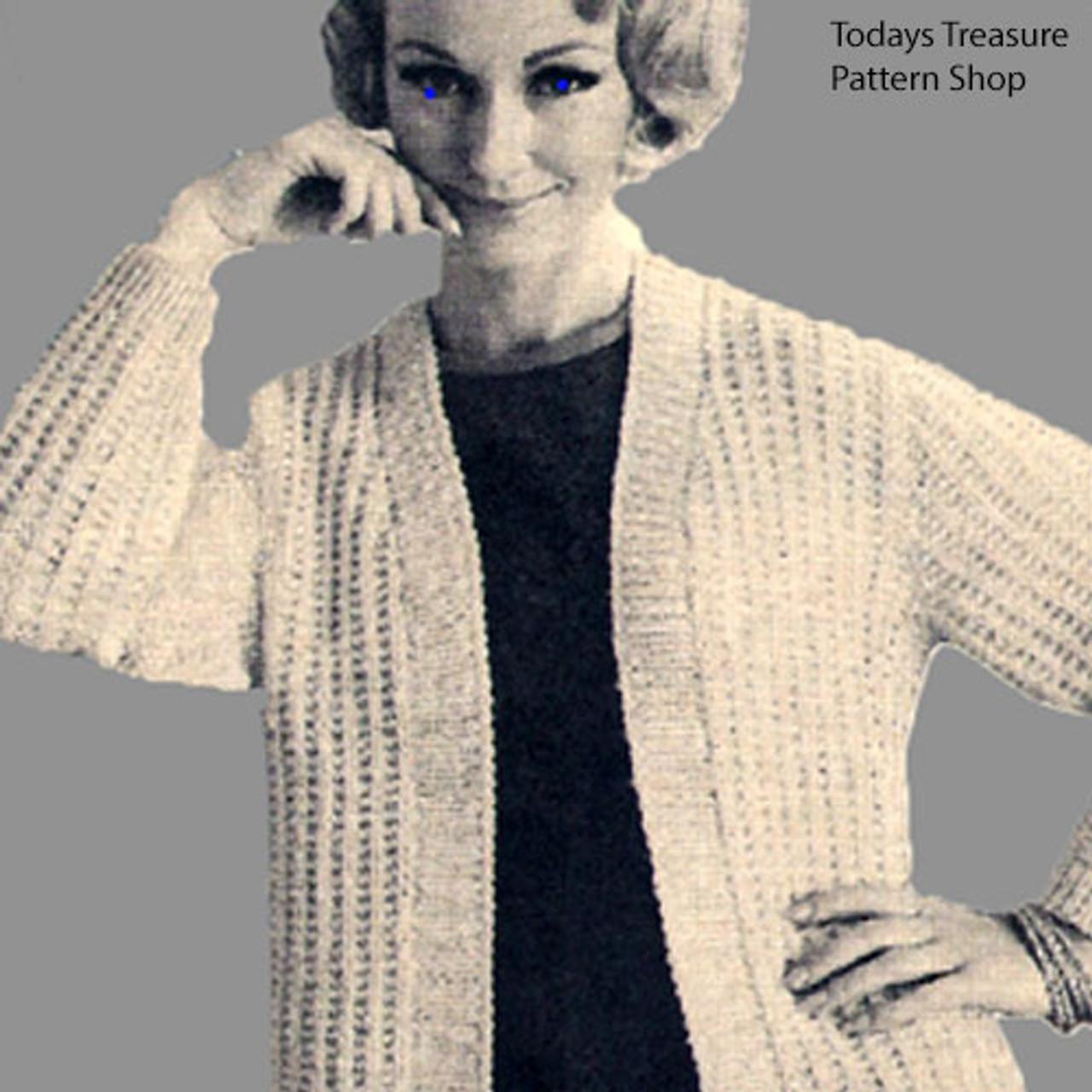 Long Knitted Jacket Pattern, Womens Plus Size