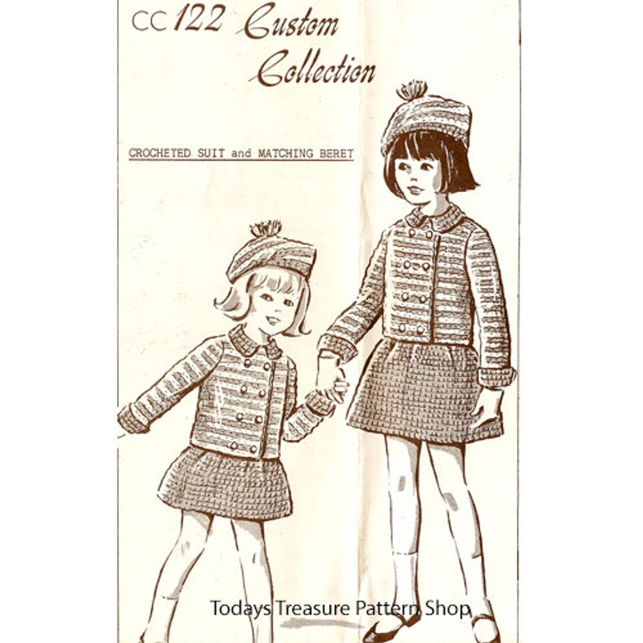 Custom Collection Girls Crocheted Suits Pattern