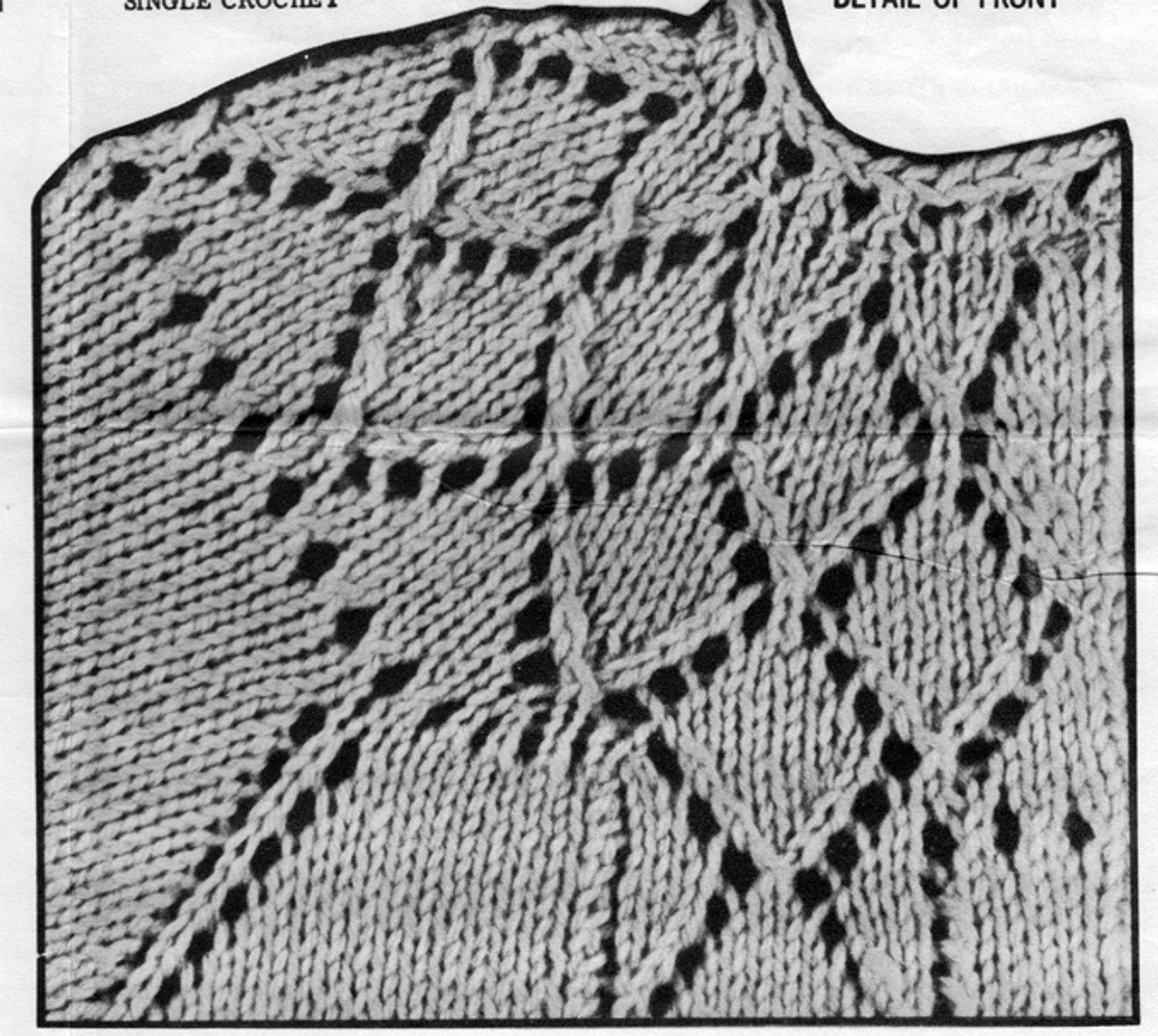 Knitted Diamond Yoke Pattern Detail