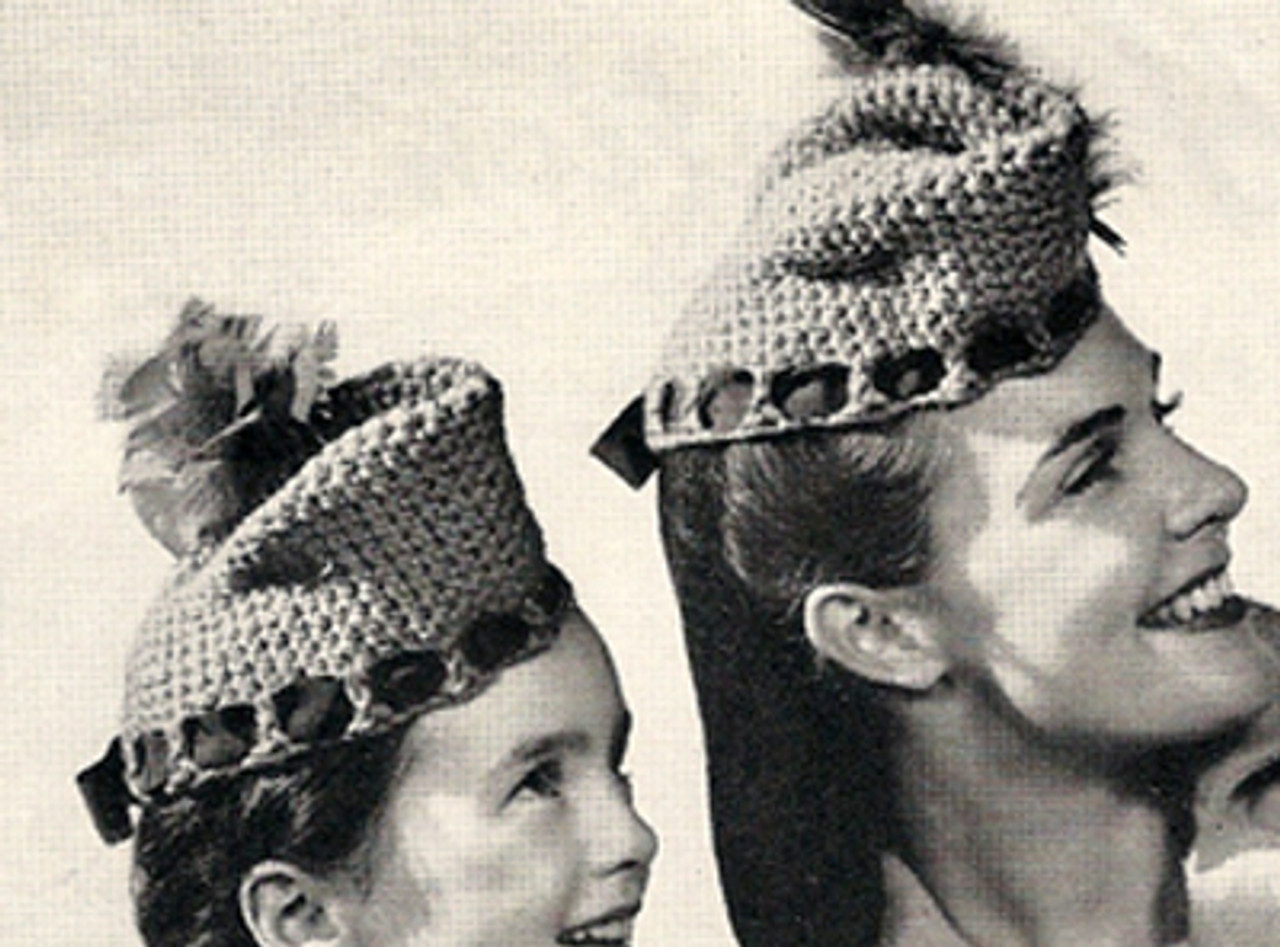 Girls Crocheted Scotch Hats Pattern