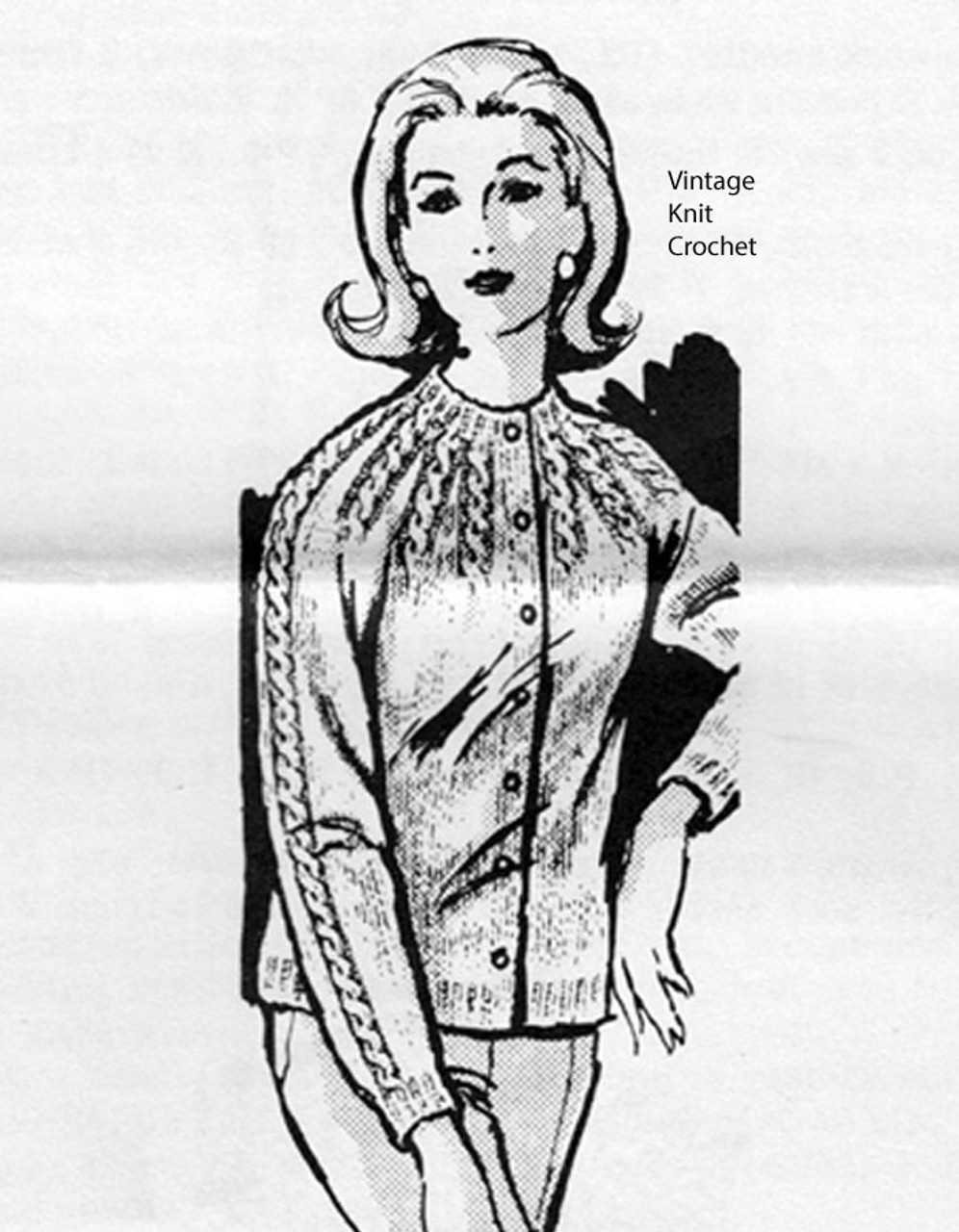 Cable Cardigan Knitting Pattern, Laura Wheeler 913