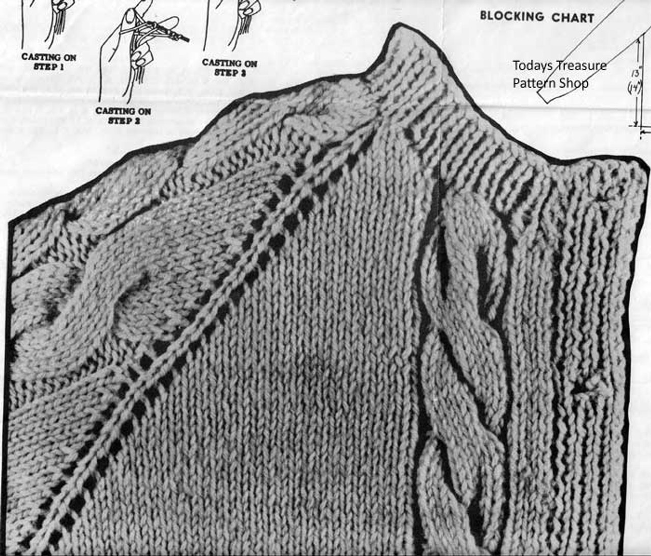 Cable Jacket Knitted Illustration