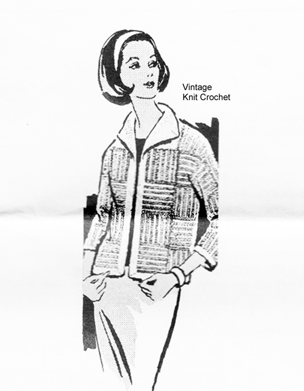 Easy Knit Block Jacket Pattern, Laura Wheeler 836