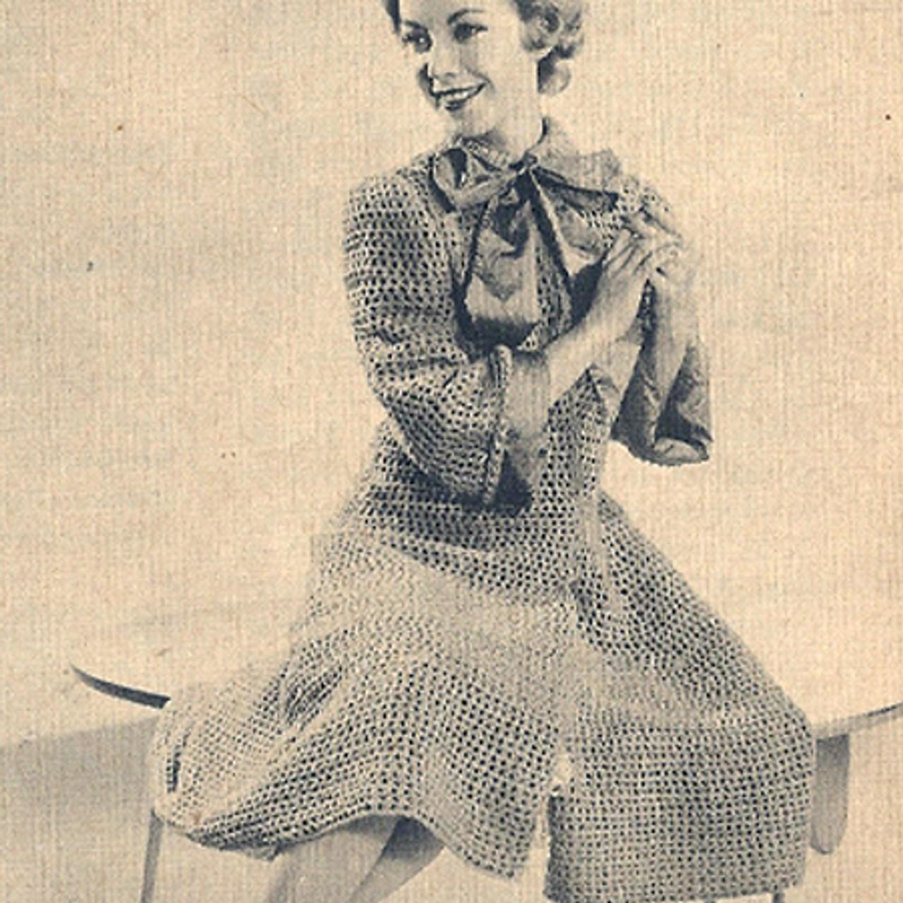 Vintage Knee Length Coat Knitting pattern