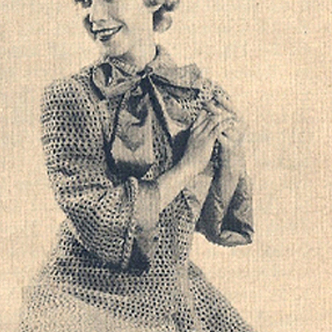Knitting pattern Long Coat, Vintage 1950s