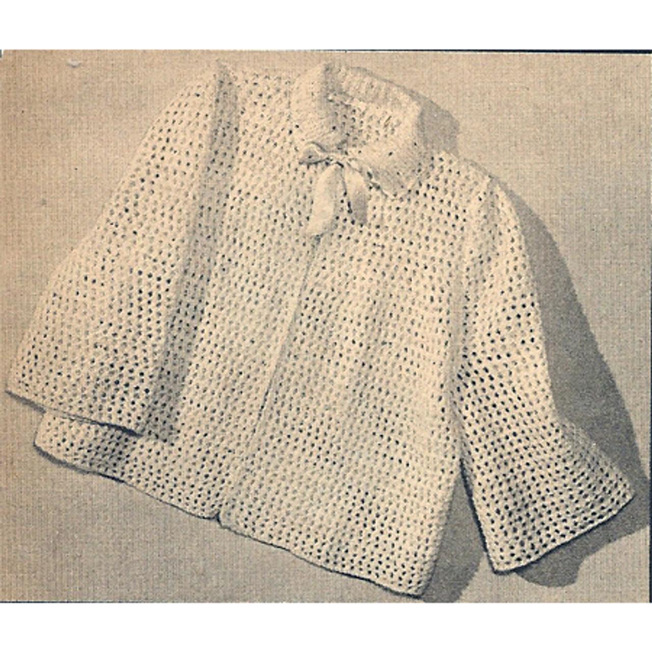Collared Bedjacket Knitting pattern