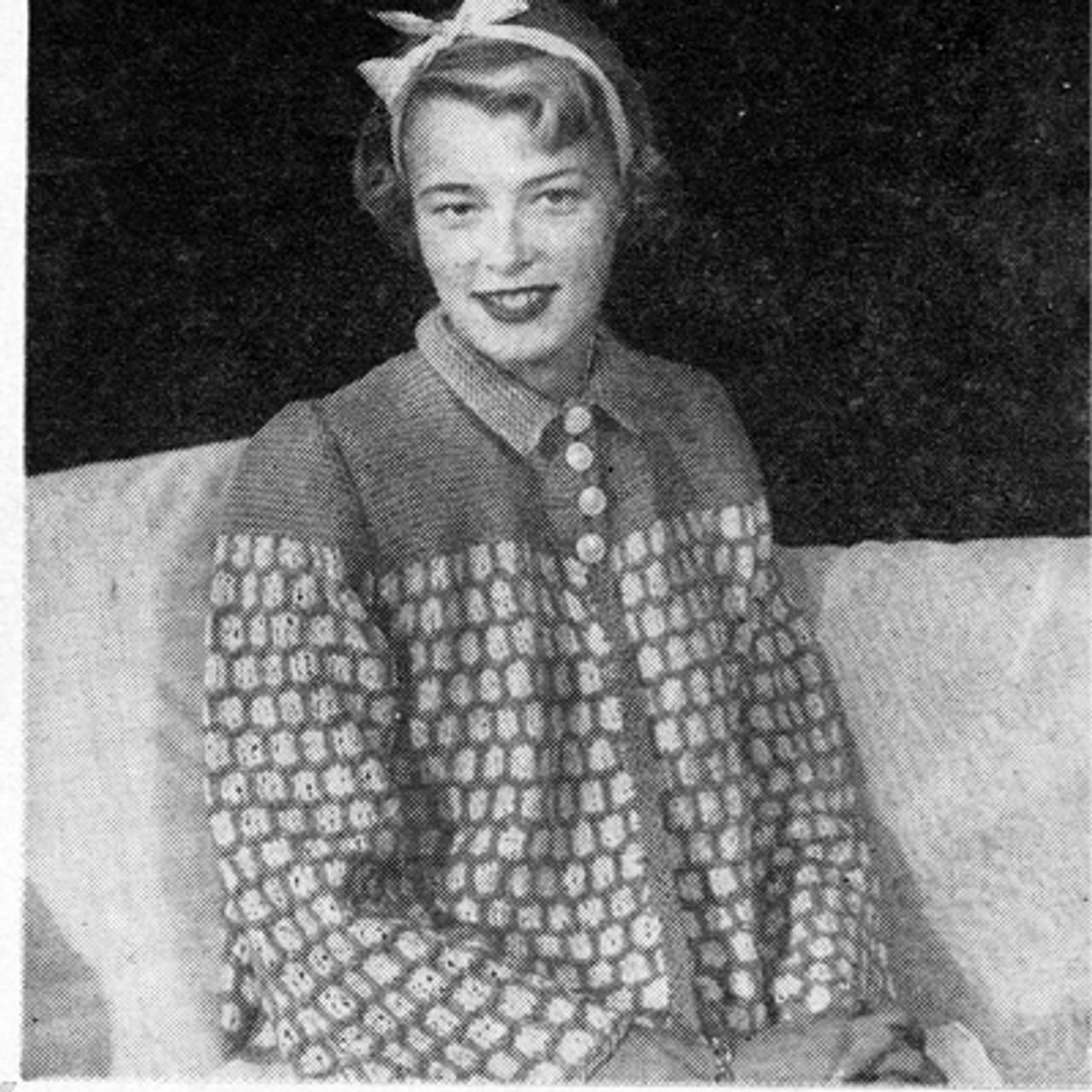 Ribbon Bed jacket Knitting Pattern