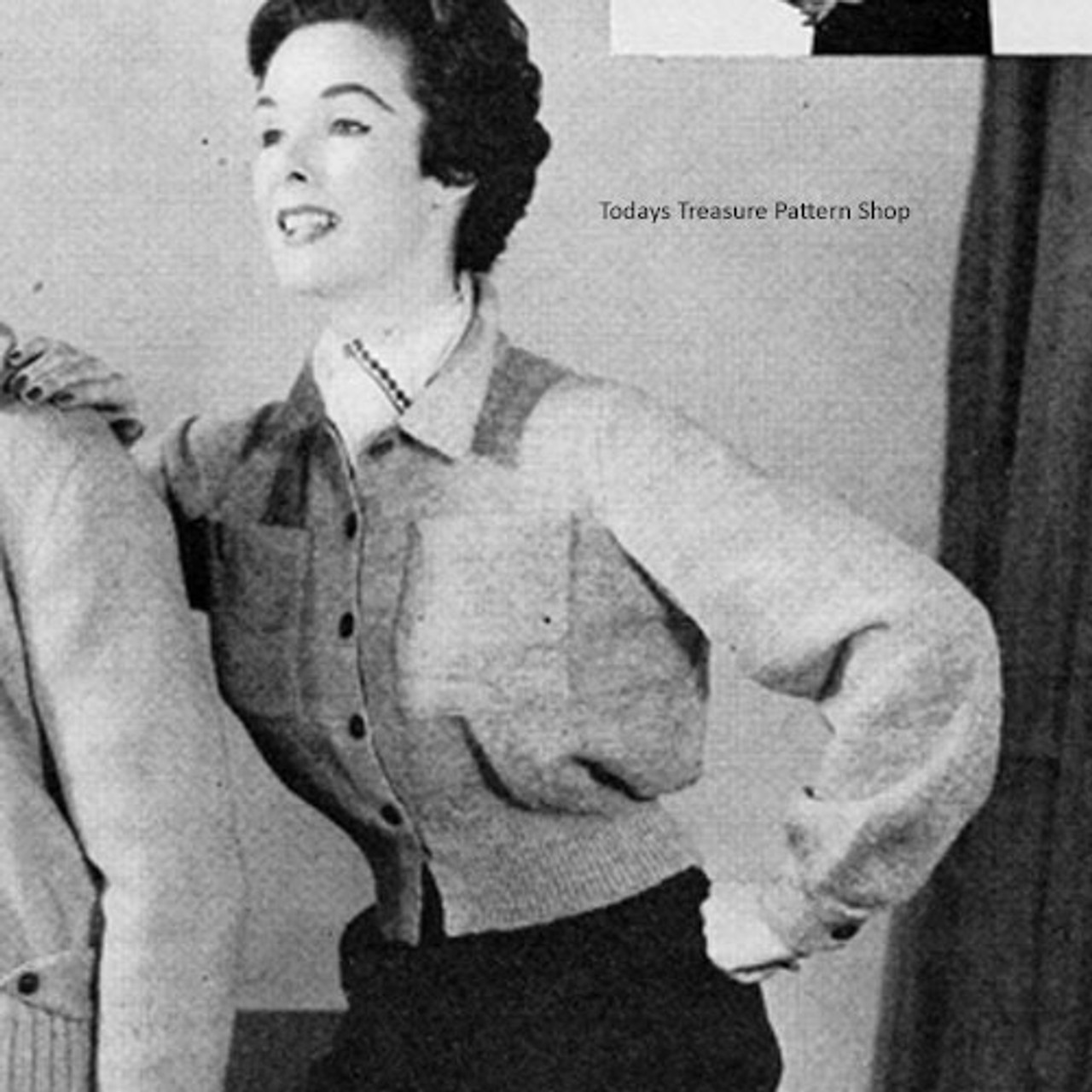 Vintage Knitted Windbreaker Pattern
