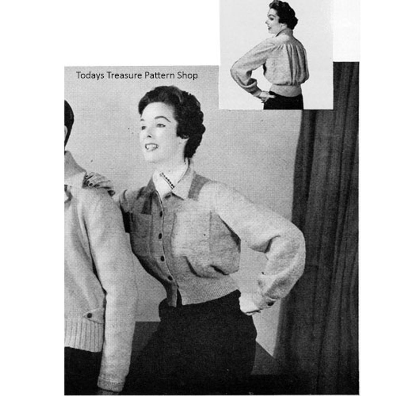 Vintage Sports Jacket Knitting Pattern