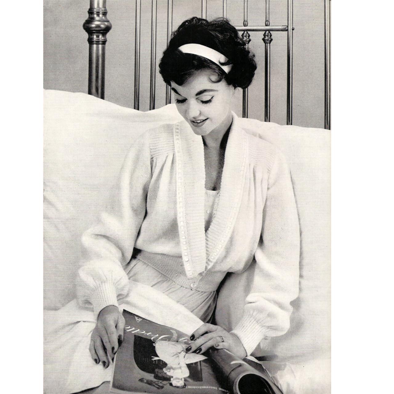 Misses Knitting Bed Jacket Pattern