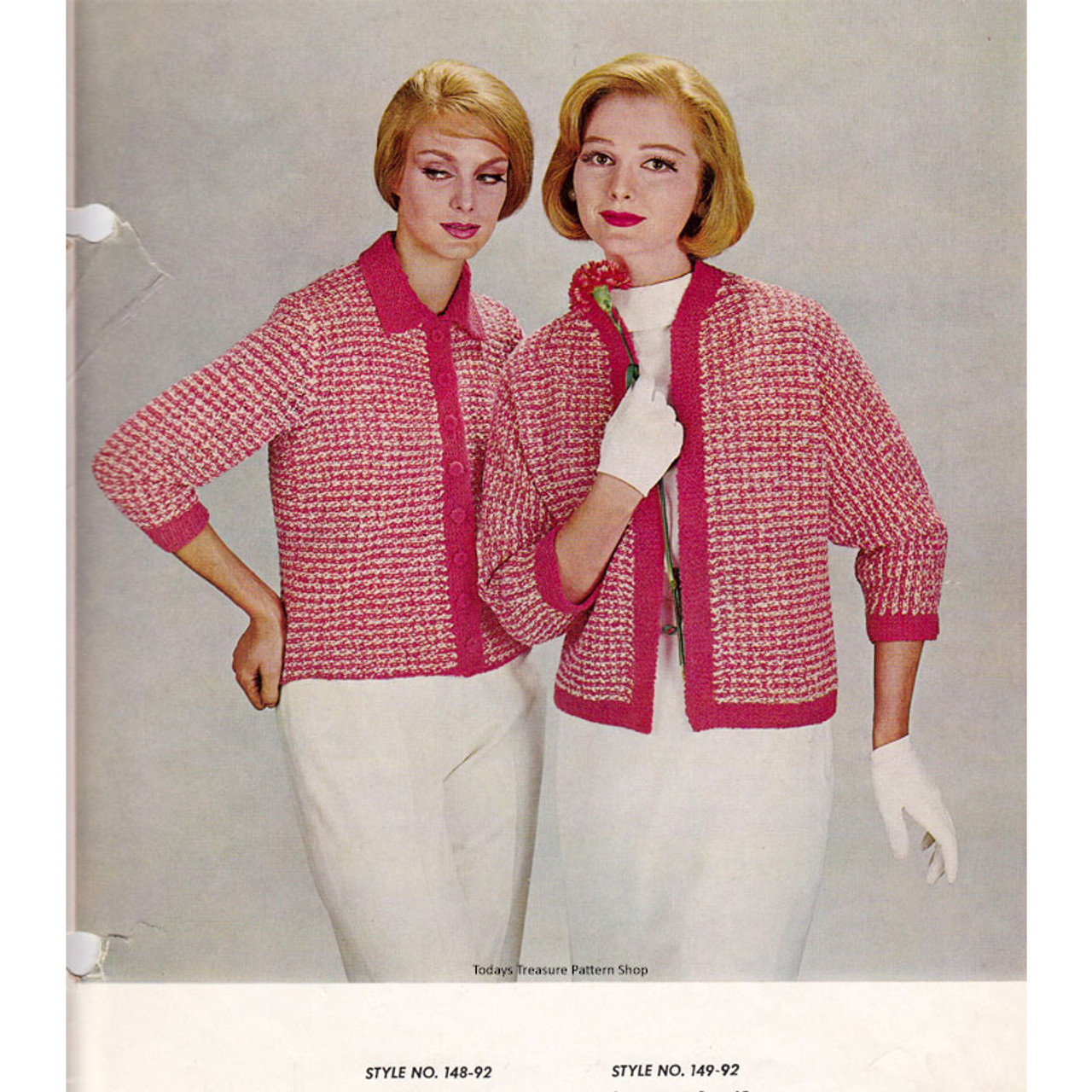 Knitting Pattern for Checked jacket