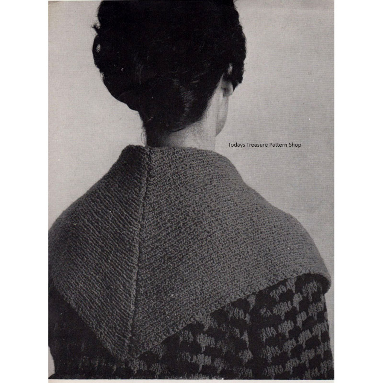 Large Shawl Collared Jacket Knitting Pattern