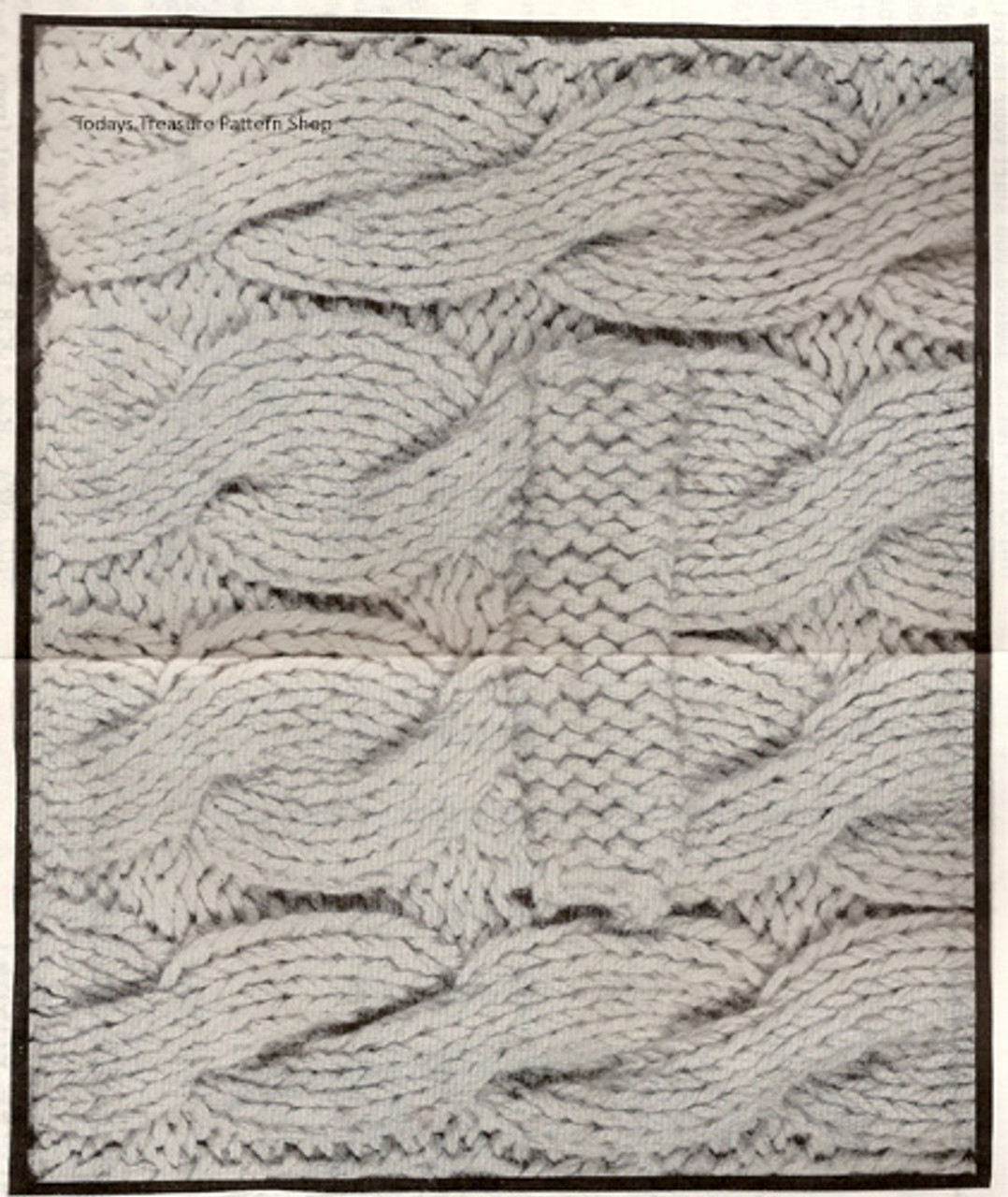 Cable Pattern Stitch for Knitted Jacket