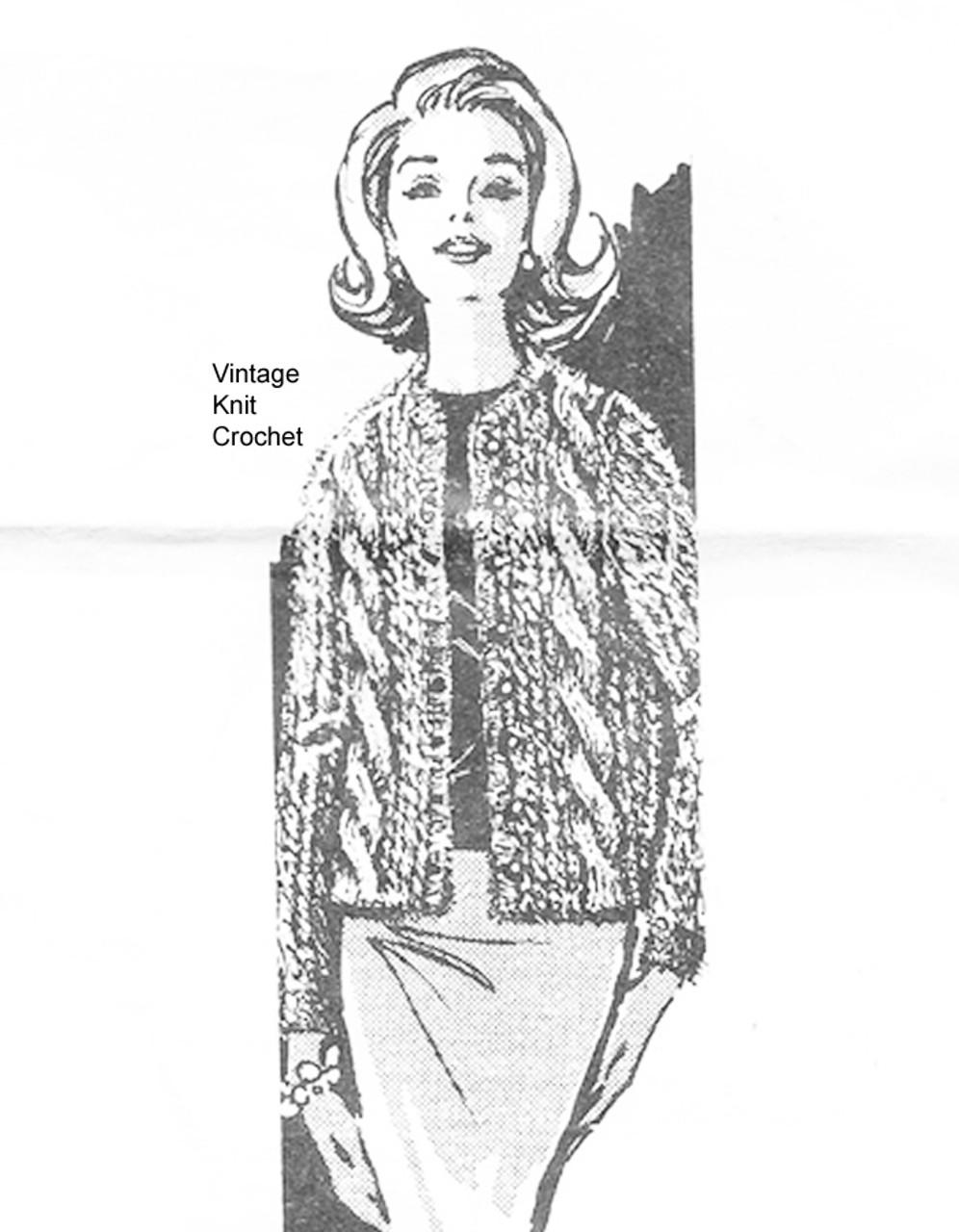 Cable Jacket Knitting Pattern, Laura Wheeler 825