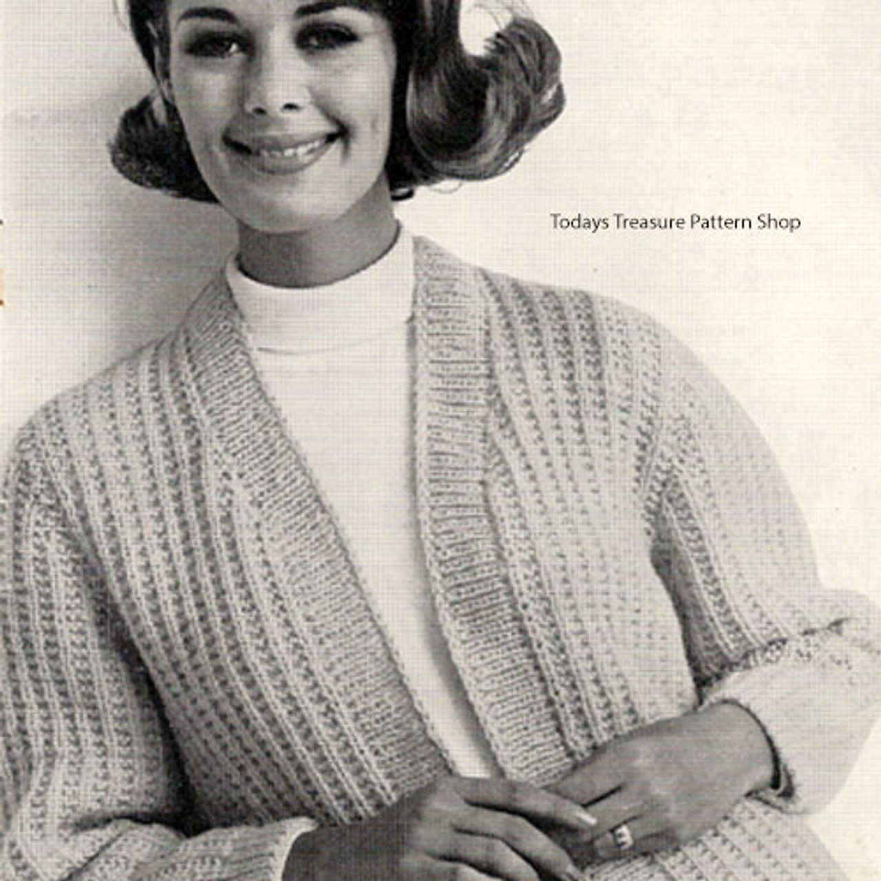 Womans Knitting Pattern for Classic Cardigan
