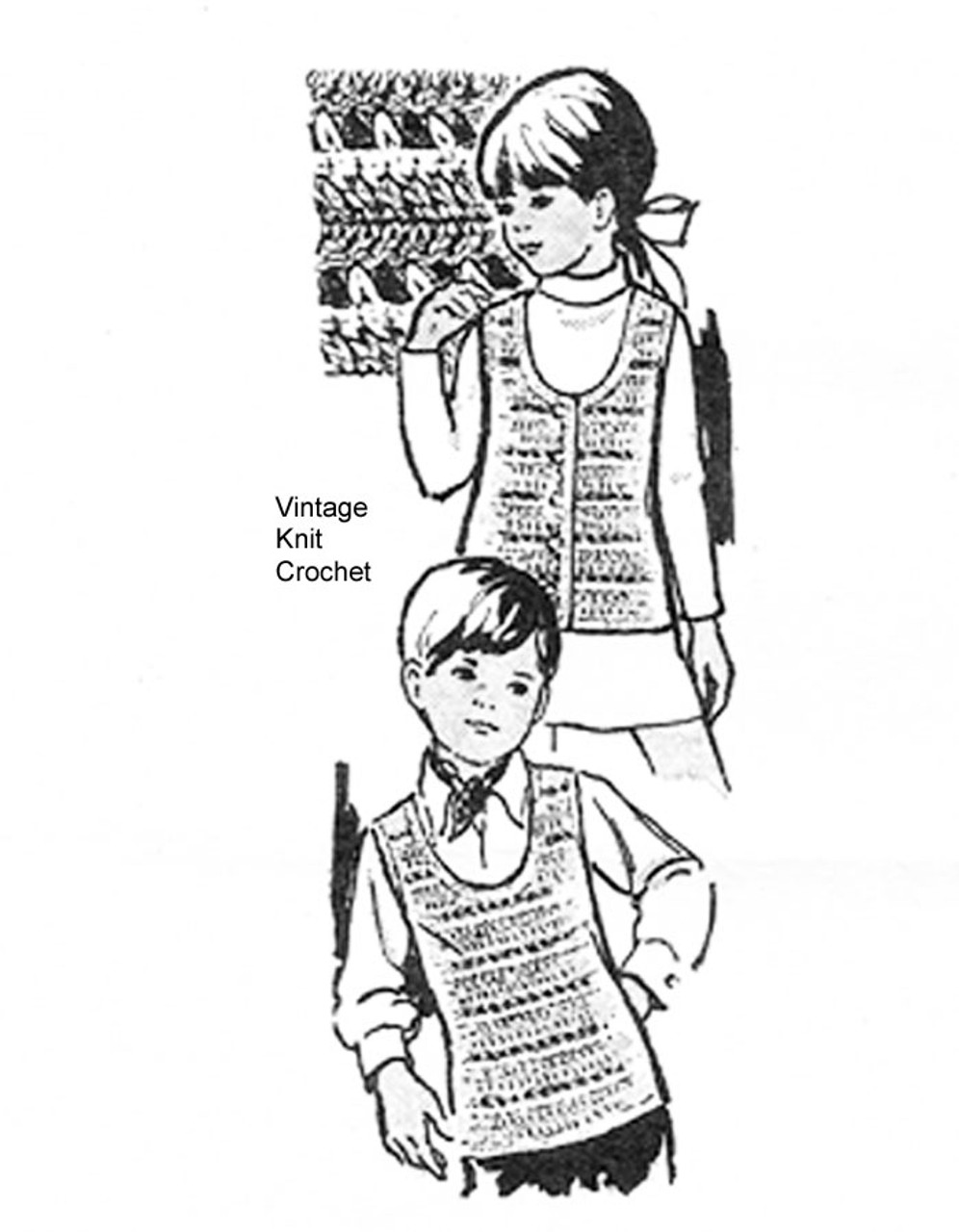 Boys Crochet Uneck Vest Pattern Design 7119