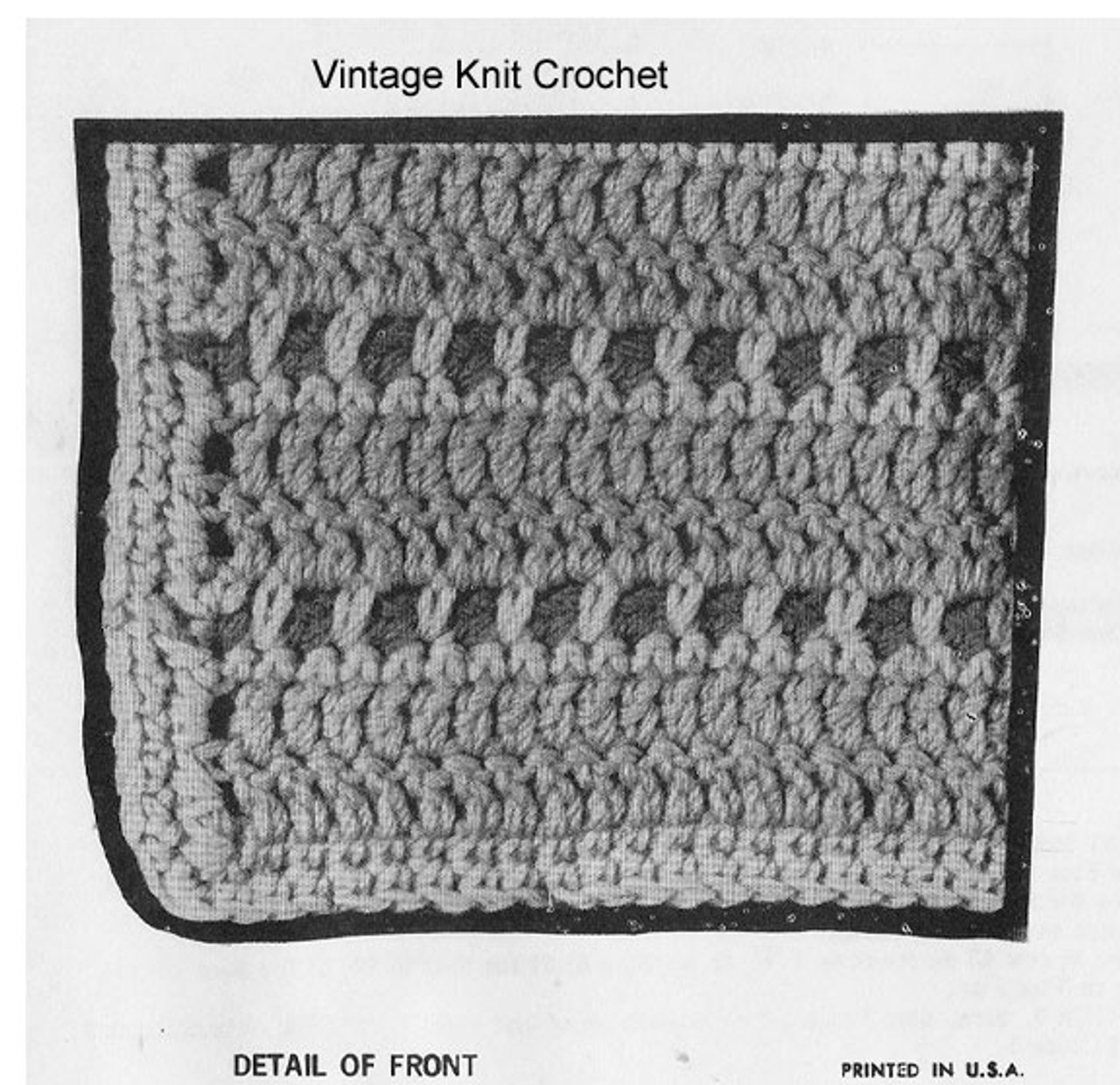 Girls Crochet Vest Pattern Detail, Alice Brooks 7119