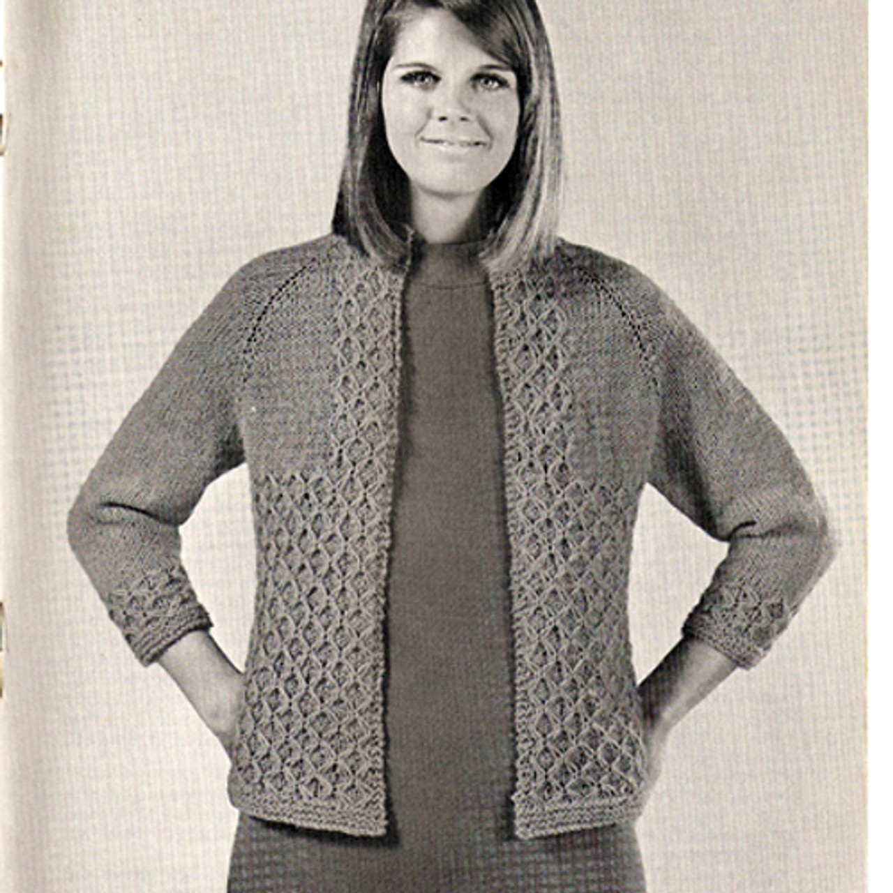 Beginners Knitting Pattern for Long Jacket