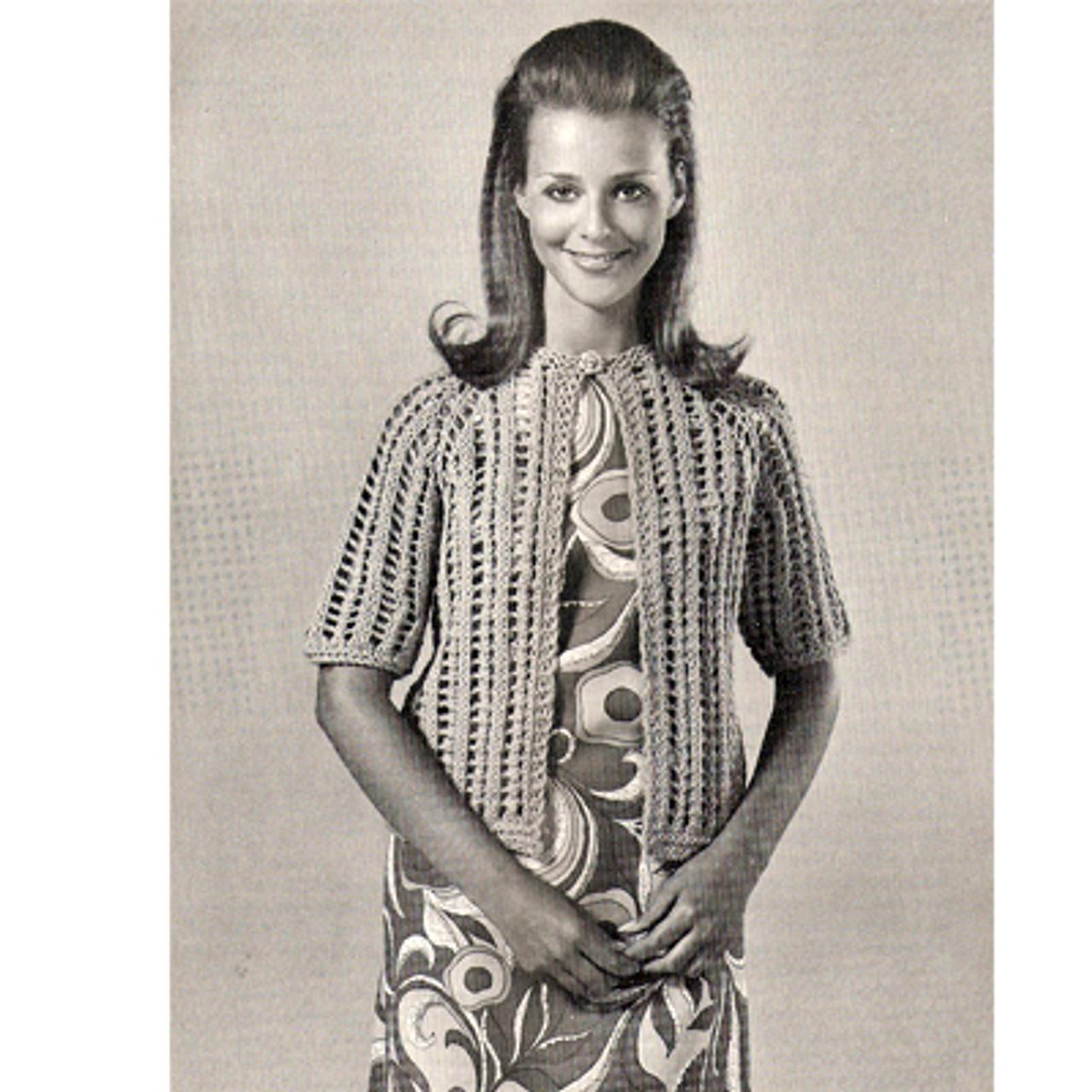Beginners Knitting Pattern Short Sleeve Jacket